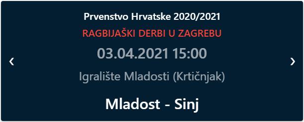 Mladost - Sinj: ragbi utakmica u Zagrebu